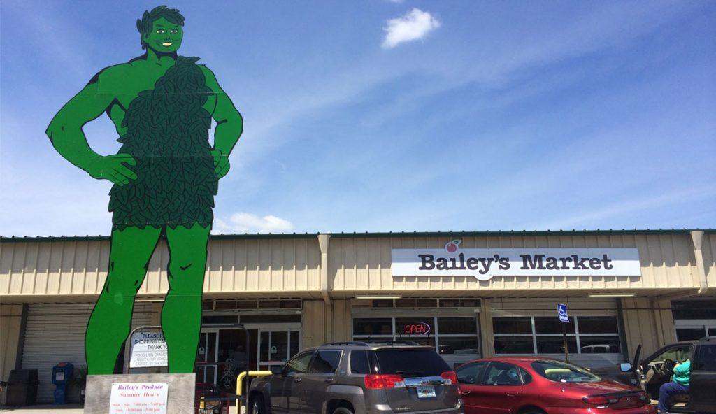 "Bailey's Market Pensacola, FL<br><i class=""fa fa-television""></i> 1 Ad Screen"