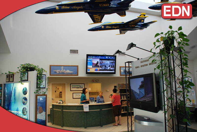 Digital Signage at the NAS Aviation Museum in Pensacola, FL