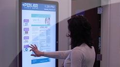 Cypress touch sensitive indoor digital signage for kiosks in hospitals, banks and museums.