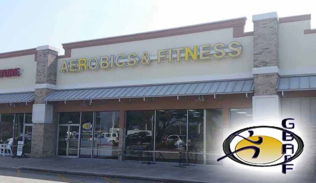 """GB Aerobics & Fitness<br><i class=""""fa fa-television""""></i> 1 of 2 Ad Screens"""