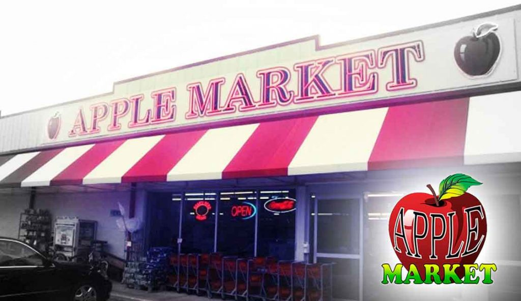 "Apple Market Pensacola, FL<br><i class=""fa fa-television""></i> 1 Ad Screen"