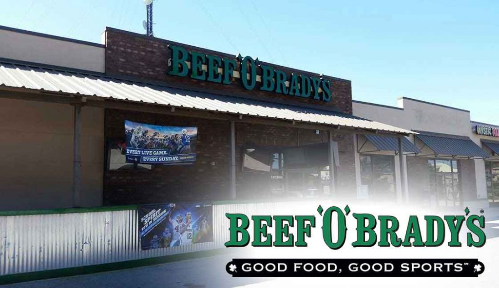 "Beef O'Brady's Nine Mile<br><i class=""fa fa-television""></i> 1 Ad Screen"